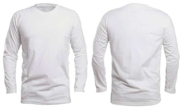 Blanc Long Sleeve Shirt maquette - Photo