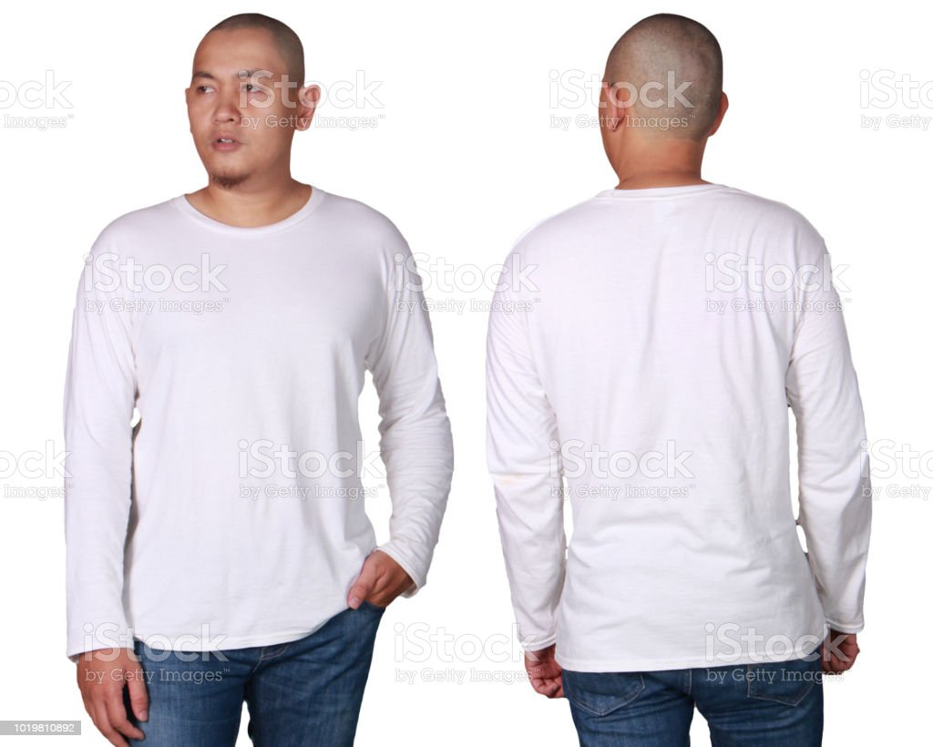 1528ed898412 White Long Sleeved Shirt Design Template Stock Photo & More Pictures ...