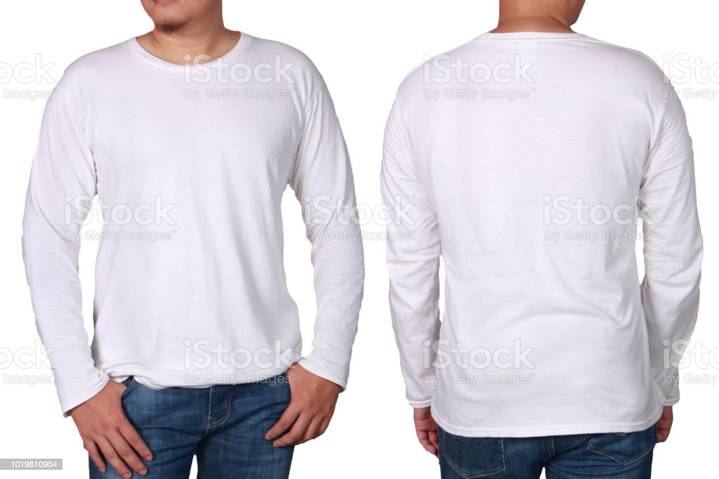 75919bd5f21d White Long Sleeved Shirt Design Template Stock Photo - Download ...