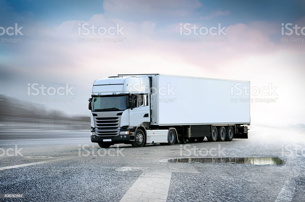 White Lorry big truck stock photo