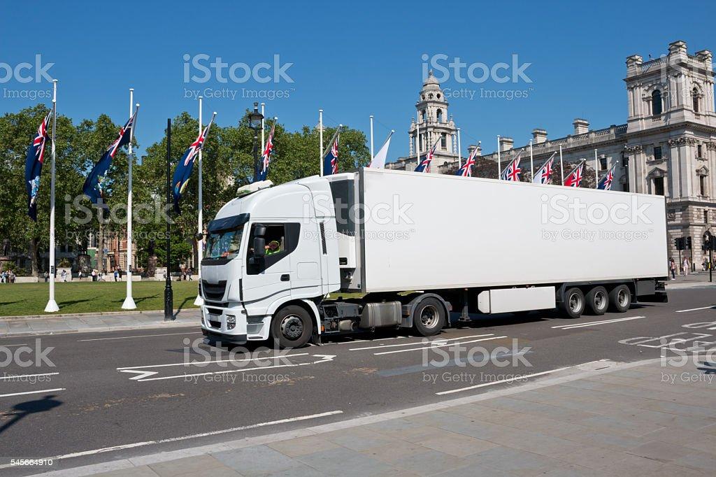 White Lorry stock photo