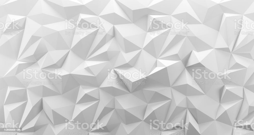 White low poly background texture. 3d rendering. royalty-free stock photo
