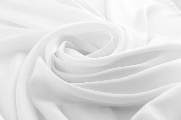 soie luxe blanche, tissu ondulé - concave photos et images de collection