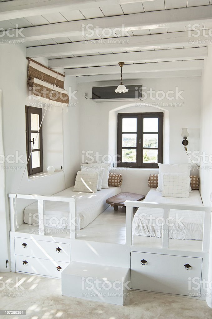 white luxury room stock photo