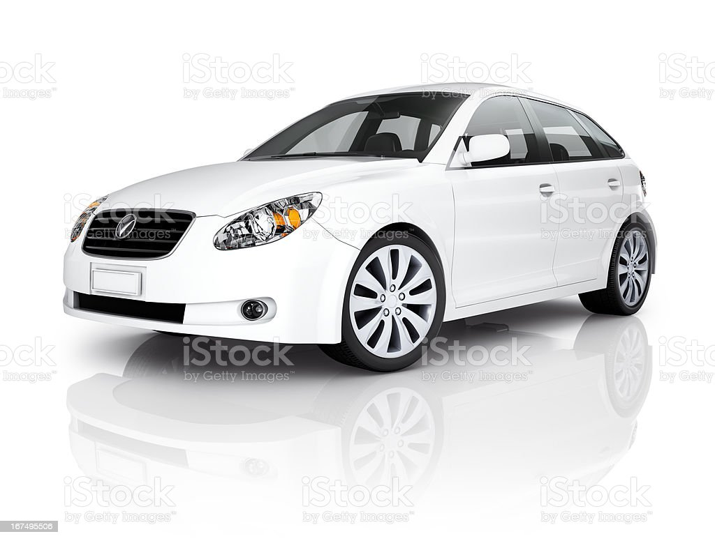 White Luxury Vehicle stock photo