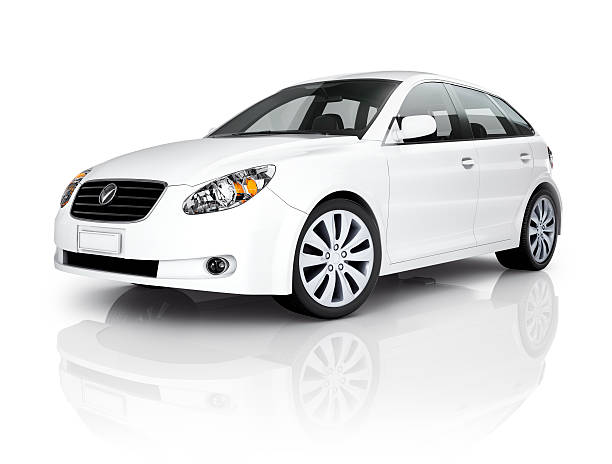 White Luxury Vehicle  status symbol stock pictures, royalty-free photos & images