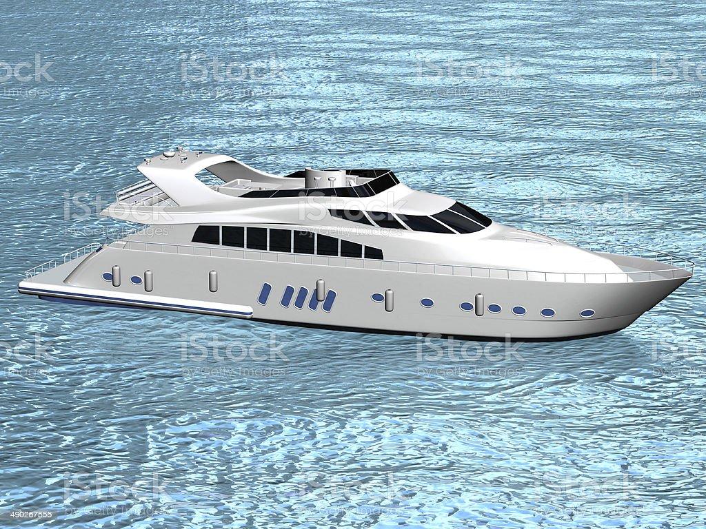 White luxury yacht stock photo
