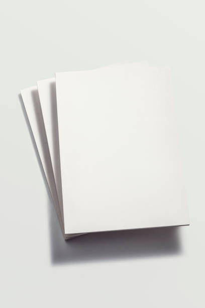 White magazine mockup, template stock photo