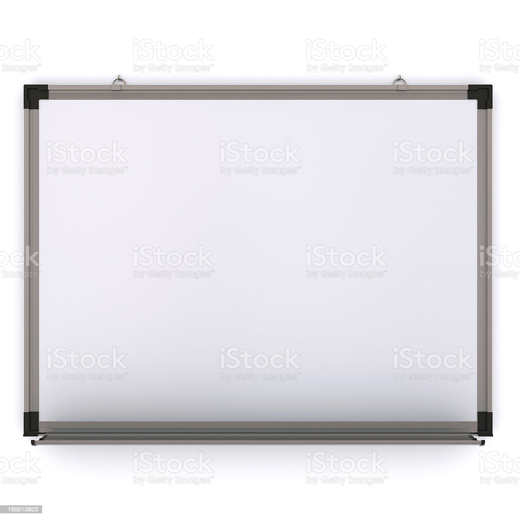 White magnetic board on the wall stock photo
