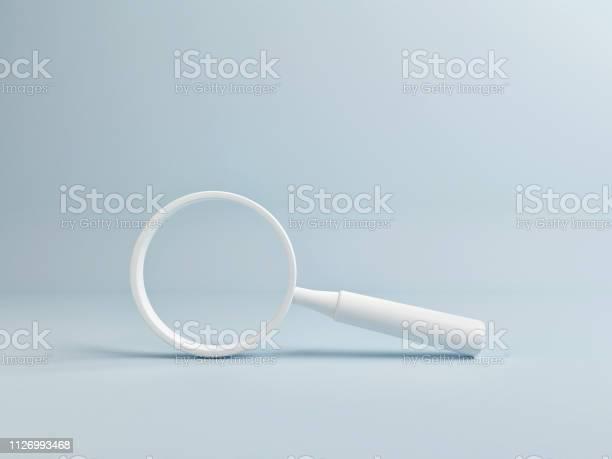 White magnify on blue background copy space picture id1126993468?b=1&k=6&m=1126993468&s=612x612&h=rmxojiet3niq qpj to3fvp6204mssttscov5ujyfxw=
