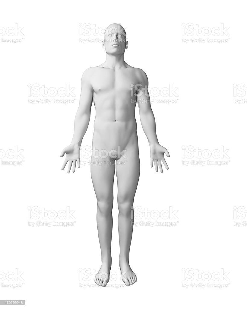 white male figure stock photo