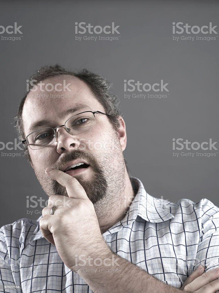 White Male Portrait royalty-free stock photo