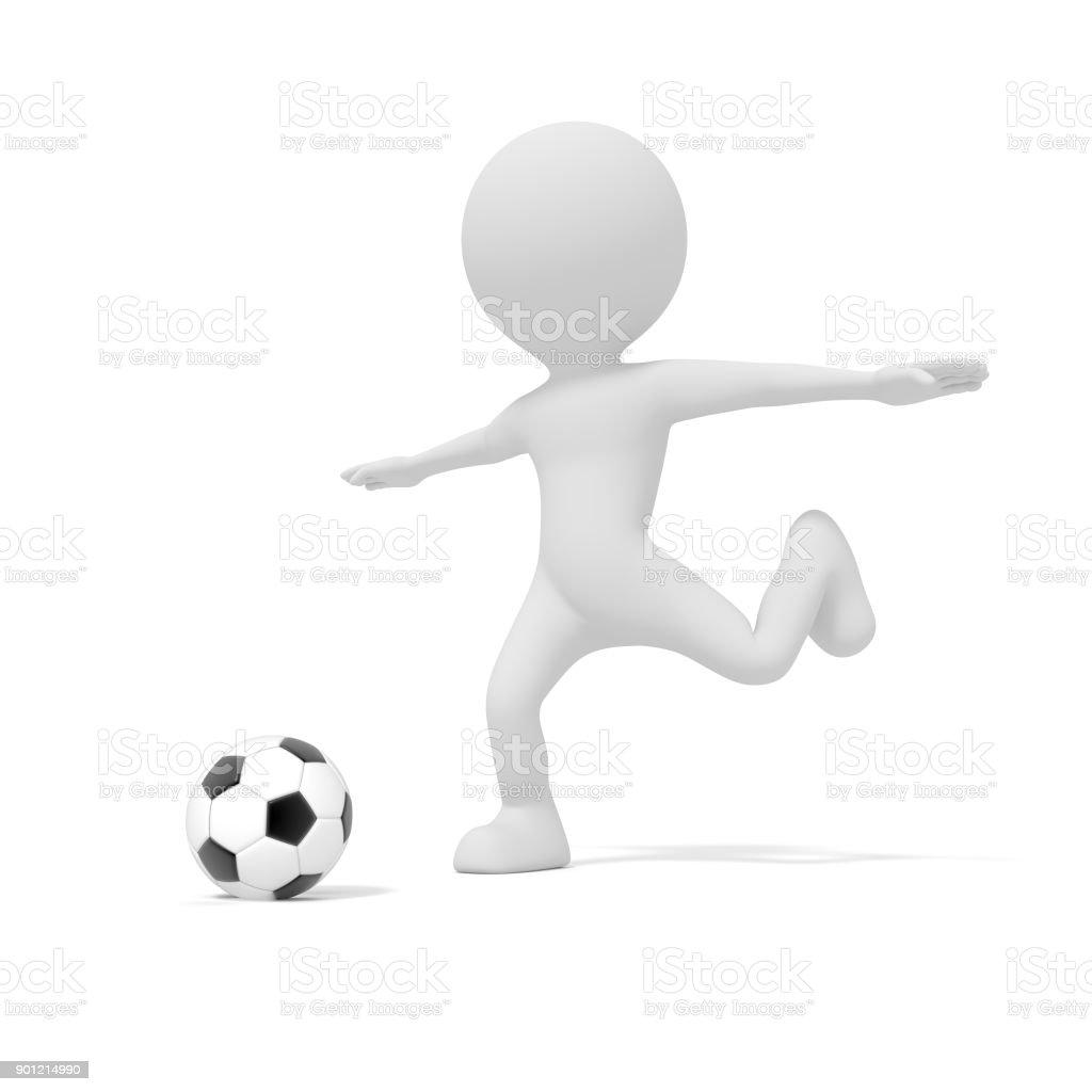 Weisser Mann Treten Fussball Oder Fussball Im