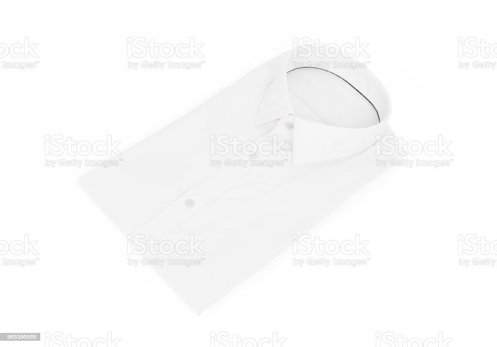 白色背景白男式襯衫 - 免版稅乾淨圖庫照片