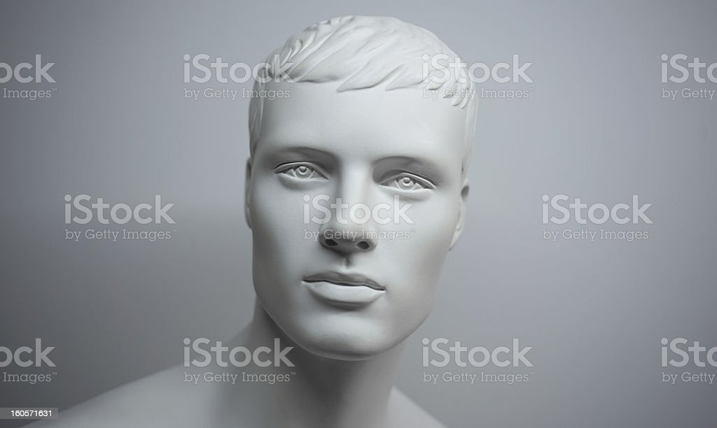 white mannequin stock photo