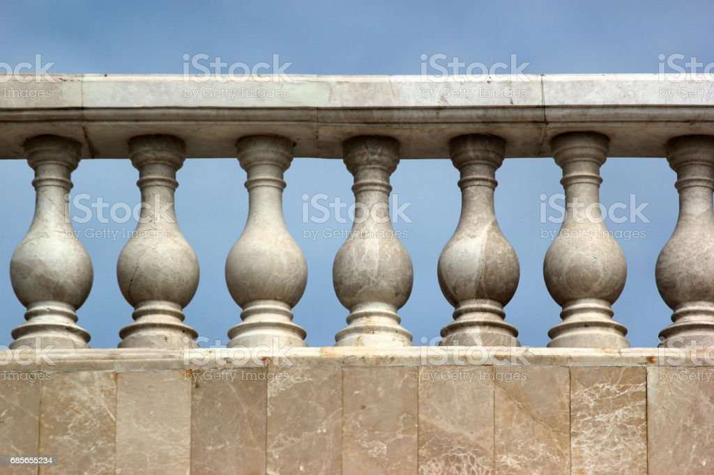White marble balustrade and stairs foto de stock royalty-free
