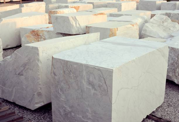white marble blocks stone industry, Carrara white marble stock pictures, royalty-free photos & images