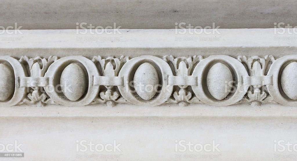 White marble classic decoration royalty-free stock photo