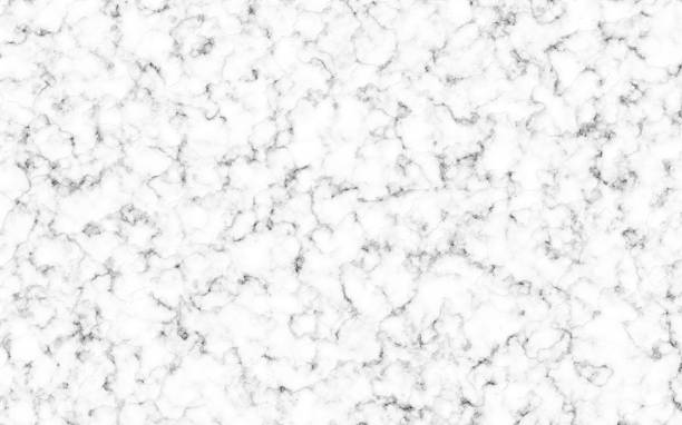 White Marble Counter Top Background with gray and black veins. Copy space. No People stock photo