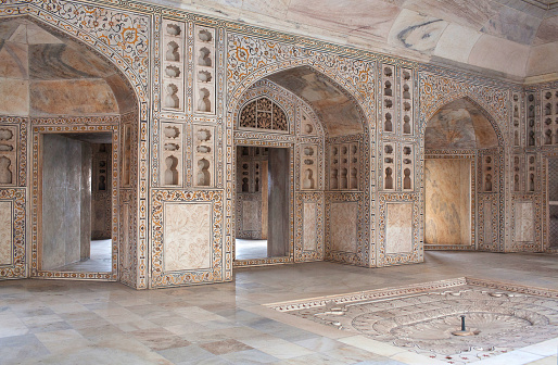 White Marble Khas Mahal Palace In Agra Red Fort India Stock Photo - Download Image Now