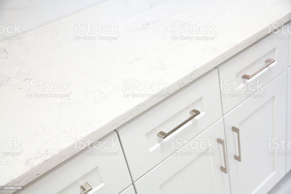 Weißem Marmor Auf Küche Schrank Stockfoto und mehr Bilder von ...