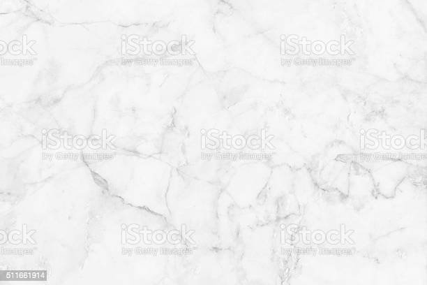 Photo of White marble patterned texture background.