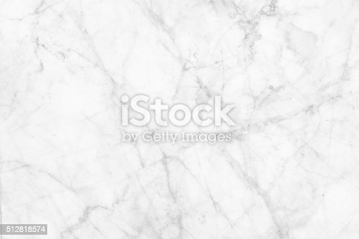 istock White marble patterned texture background. 512818574