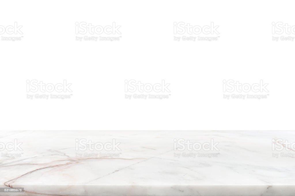 Bancone in marmo bianco pietra - foto stock