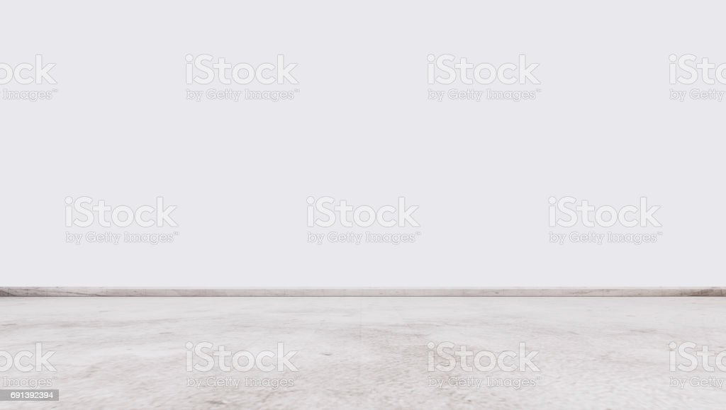 White marble stone floor with white wall, interior empty space stock photo