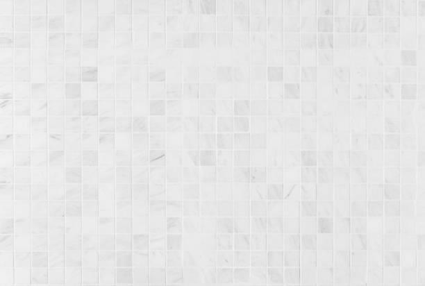 carrelage en marbre blanc - mosaïque photos et images de collection
