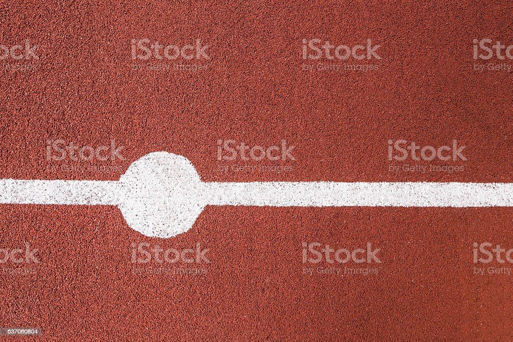 White marking on basketball court stock photo