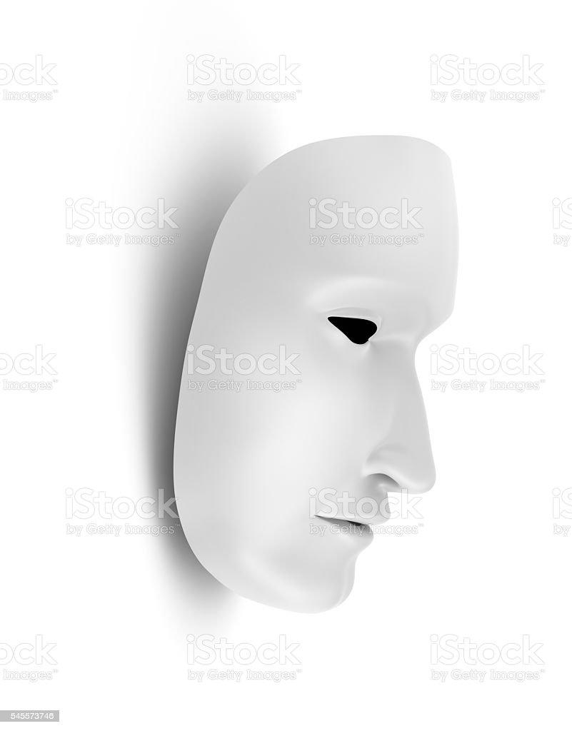 White mask, theater concept stock photo