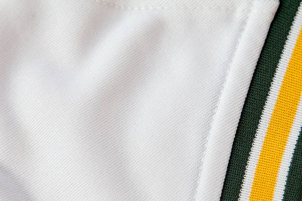 White material with green and yellow band