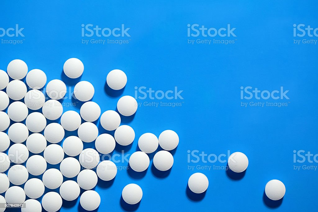 White medical pills. stock photo