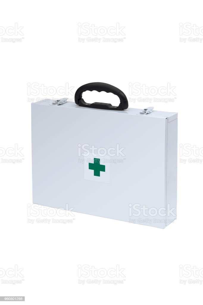 White Medical Supplies Case stock photo