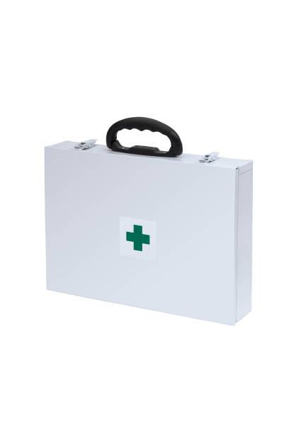 White Medical Supplies Case stock photo