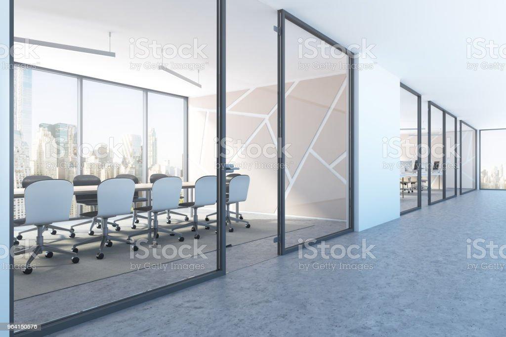 Weiß treffen Raum Lobby Muster Seitenansicht – Foto