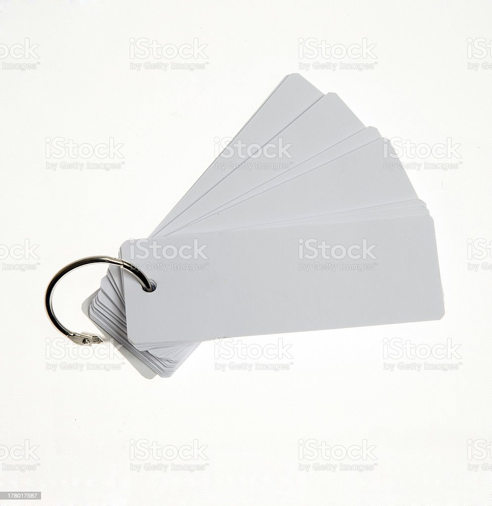 white memo cards royalty-free stock photo