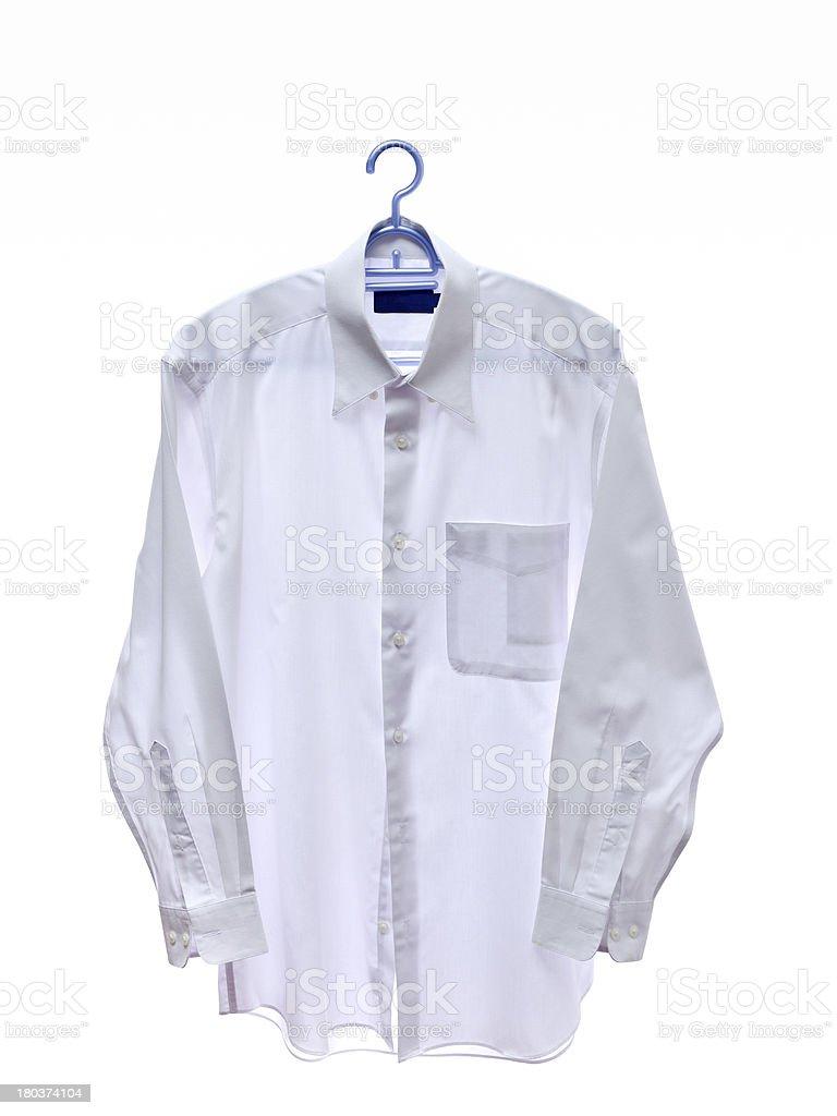white men shirt on hanger royalty-free stock photo