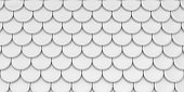 White mesh background. Roof or fish scales pattern.
