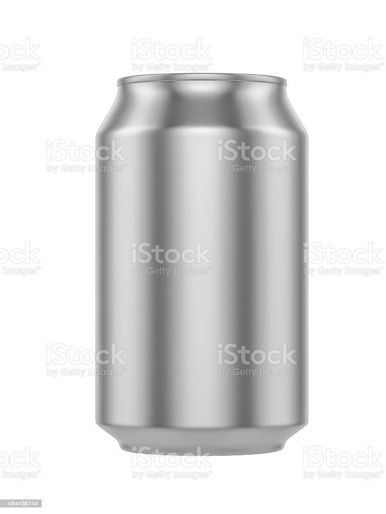 White Metal Aluminum Beverage Drink Can 500ml stock photo