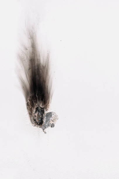 White metal burn for welding White metal burn for welding with traces of burned flame scar stock pictures, royalty-free photos & images