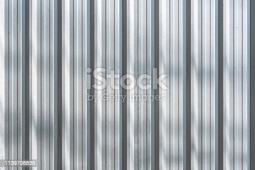 white metal corrugated texture surface or galvanize steel