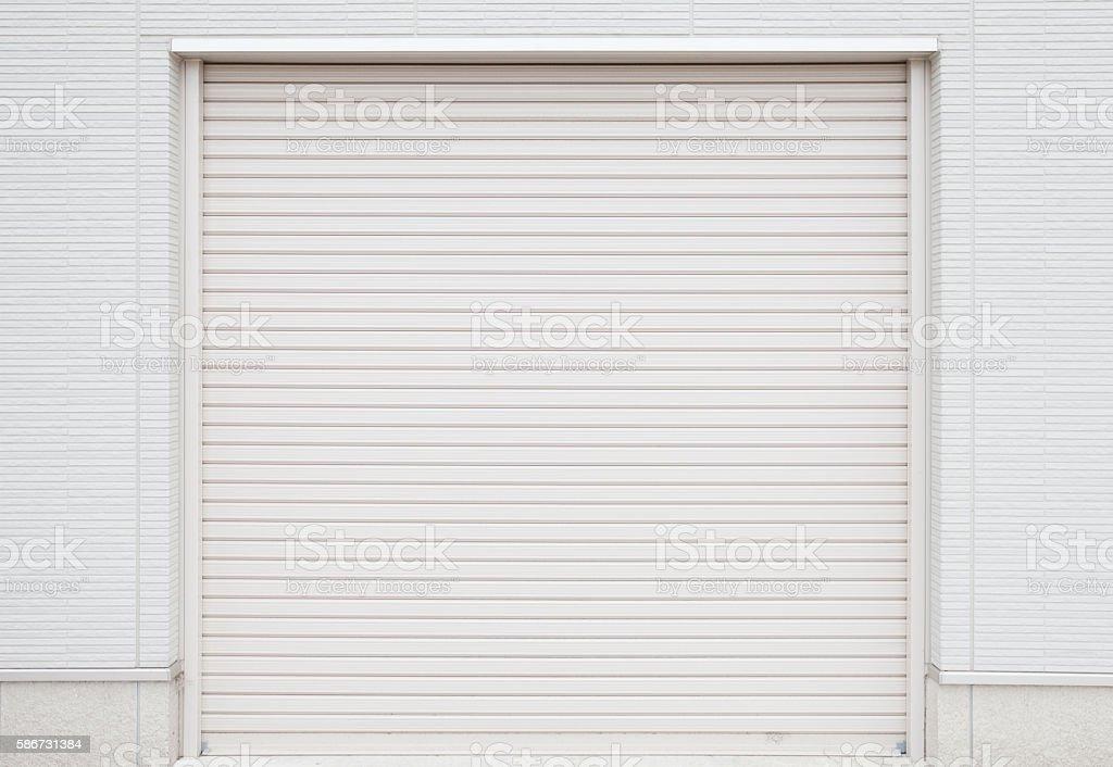 white garage door texture. White Metal Roller Door Shutter Background And Texture Stock Photo Garage