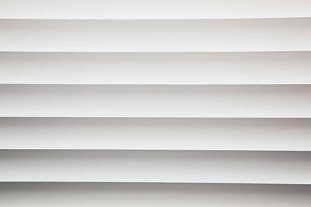 White metal window blinds close-up - foto de stock