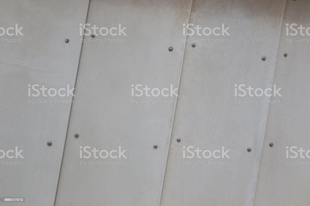 White metallic wall stock photo