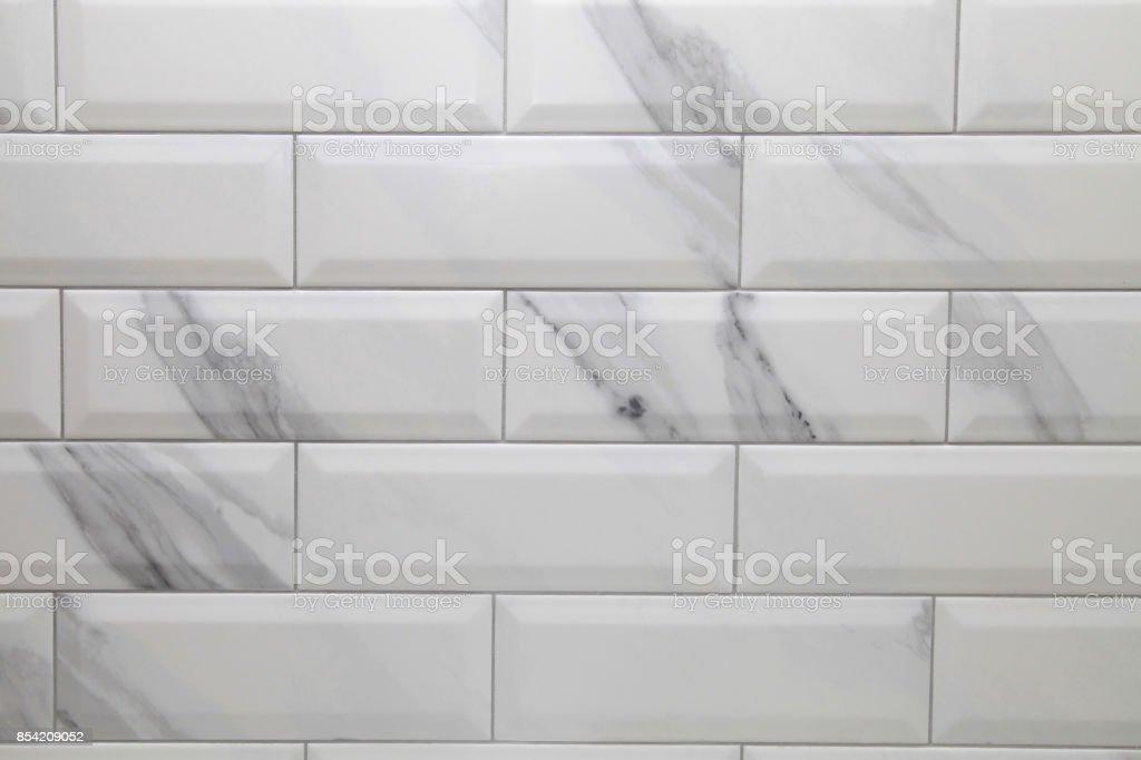 fundo branco metro de telha cerâmica - foto de acervo