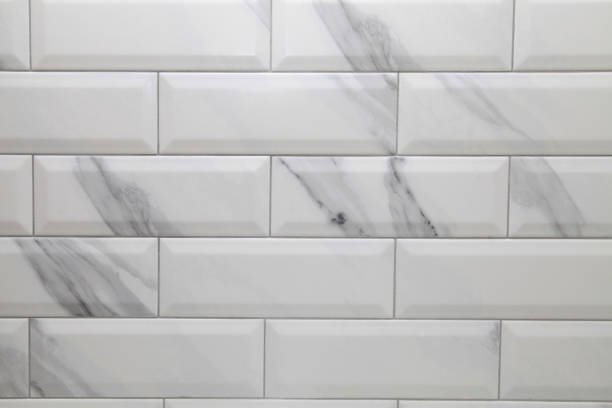 white metro ceramic tile background - tile stock photos and pictures