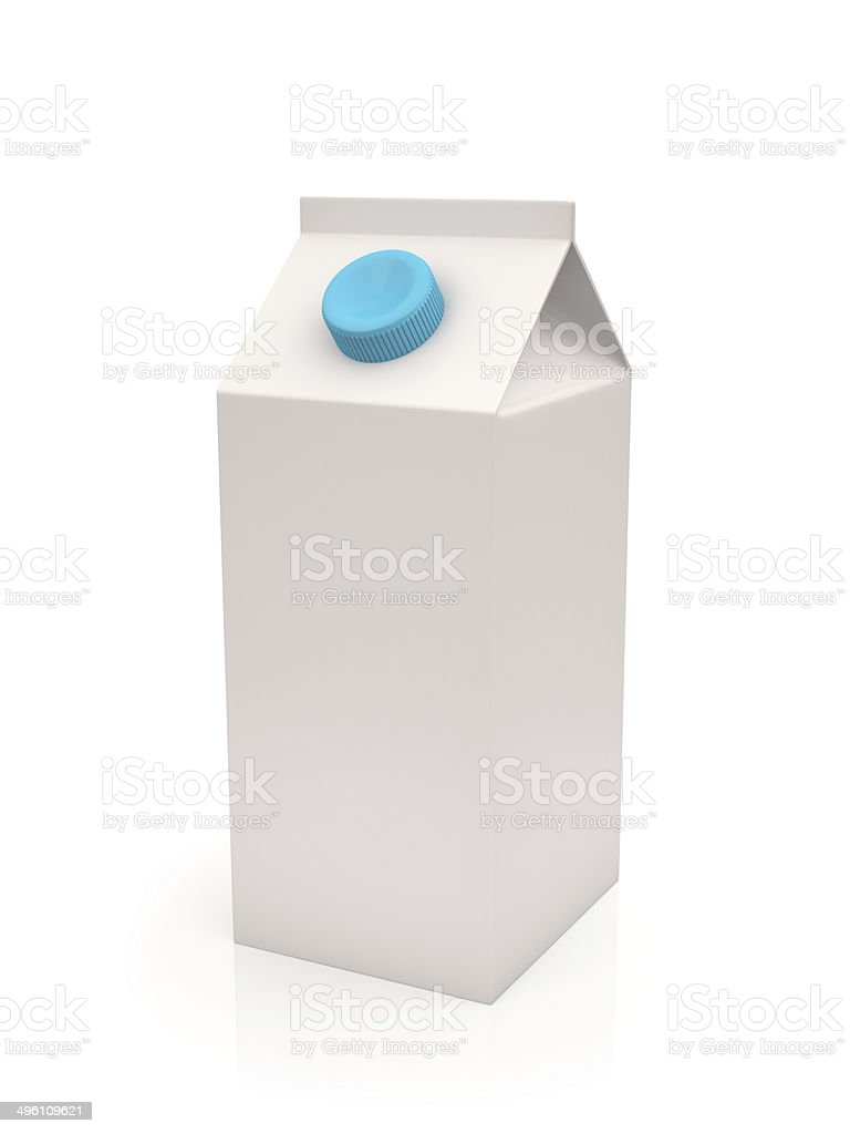 White milk or juice carton box stock photo