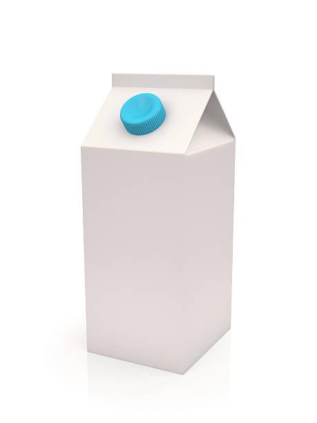 Blanc lait ou de jus de fruits et une boîte de carton - Photo